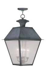 Livex Lighting 2174-61 - 4 Light Charcoal Outdoor Chain Lantern