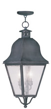 Livex Lighting 2557-61 - 3 Light Charcoal Outdoor Chain Lantern