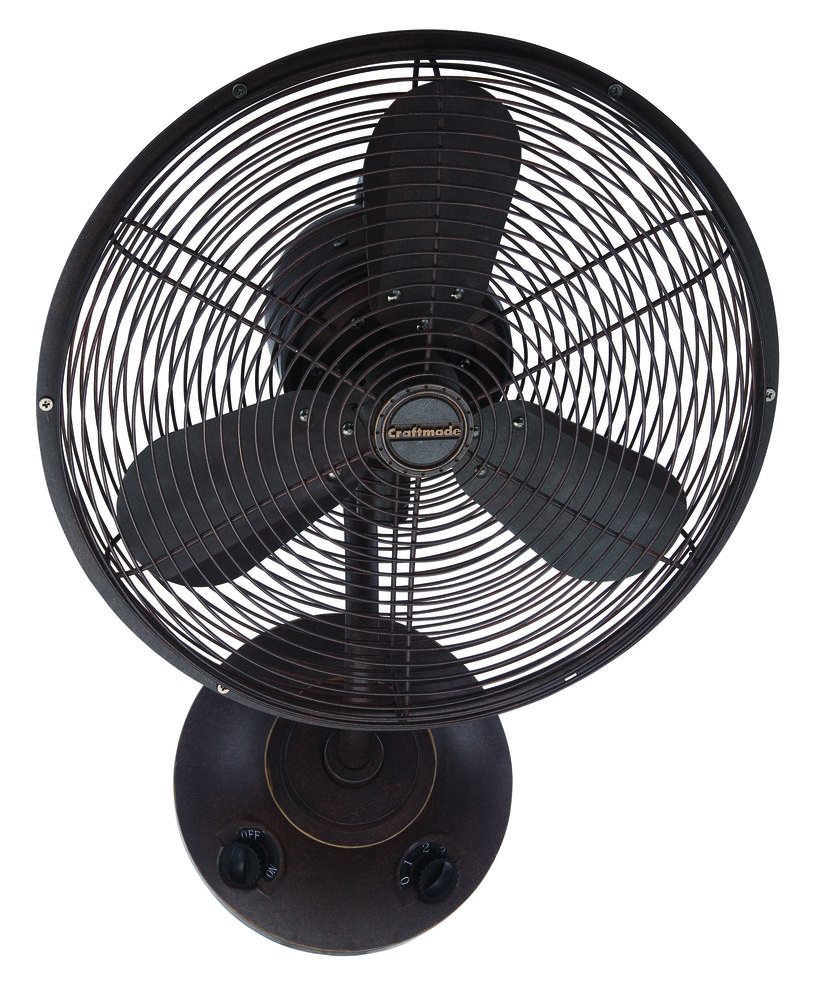 "Bellows I 16"" Wall Mount Fan in Aged Bronze Textured"