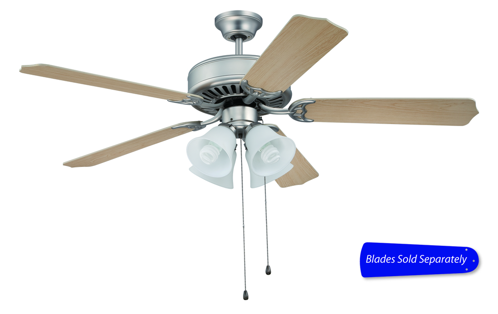 Pro builder 203 52 ceiling fan with light in brushed satin nickel blades sold