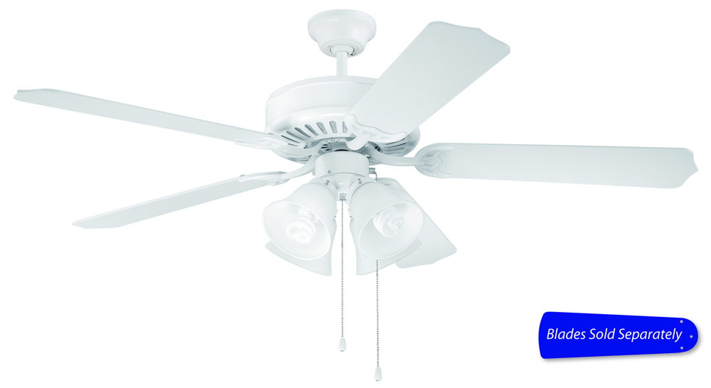 Pro builder 203 52 ceiling fan with light in white blades sold separately