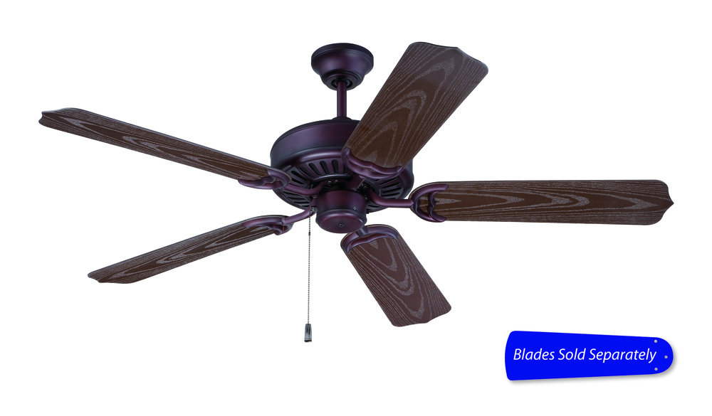 "Outdoor Patio 52"" Ceiling Fan in Brown (Blades Sold Separately)"