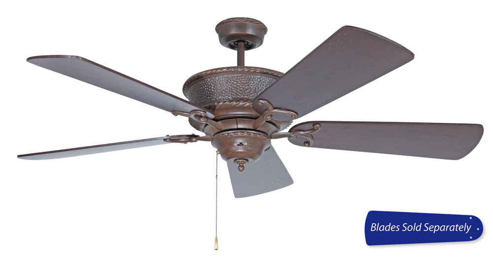 Riata 52 ceiling fan in aged bronze textured blades sold separately