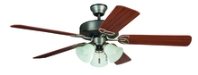 "Craftmade BLD52AN5C3 - Builder Deluxe with 3-light Kit 52"" Ceiling Fan with Blades and Light in Antique Nickel"