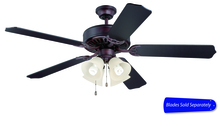 "Craftmade C204OB - Pro Builder 204 52"" Ceiling Fan with Light in Oiled Bronze (Blades Sold Separately)"