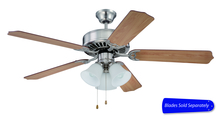 "Craftmade C205BNK - Pro Builder 205 52"" Ceiling Fan with Light in Brushed Polished Nickel (Blades Sold Separately)"