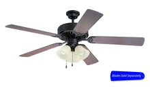 "Craftmade C206AG - Pro Builder 206 52"" Ceiling Fan with Light in Aged Bronze Textured (Blades Sold Separately)"