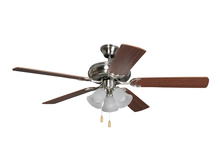 "Craftmade DCF52BNK5C3 - Decorator's Choice with 3-light Kit 52"" Ceiling Fan with Blades and Light in Brushed Polishe"