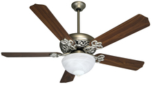 "Craftmade K10438 - Cecilia Unipack 52"" Ceiling Fan Kit with Light Kit in Brushed Satin Nickel"