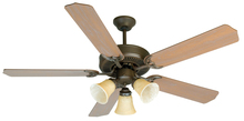 "Craftmade K10639 - Pro Builder 206 52"" Ceiling Fan Kit with Light Kit in Aged Bronze Textured"