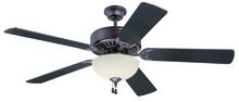 "Craftmade K11105 - Pro Builder 202 52"" Ceiling Fan Kit with Light Kit in Oiled Bronze"