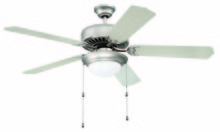 "Craftmade K11128 - Pro Builder 209 52"" Ceiling Fan Kit with Light Kit in Brushed Satin Nickel"