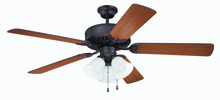 "Craftmade K11204 - Pro Builder 205 52"" Ceiling Fan Kit with Light Kit in Aged Bronze Brushed"