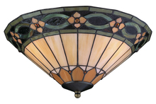 Craftmade LKE116CFL - 2 Light Elegance Bowl Fan Light Kit with Jeweled Tiffany Style Glass