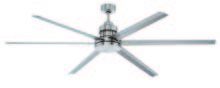 "Craftmade MND72BNK6 - Mondo 72"" Ceiling Fan with Blades in Brushed Polished Nickel"