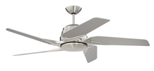 "Craftmade SOE54BNK5 - Solo Encore 54"" Ceiling Fan with Blades and LED Light Kit in Brushed Polished Nickel"