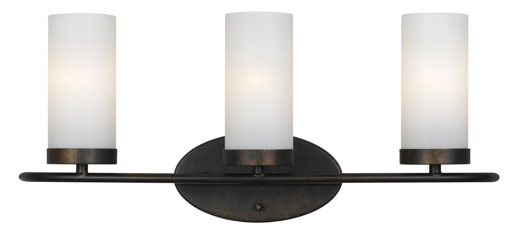 Cameron 3 Light Bronze Vanity Light