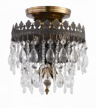 Crystorama 1590-FA - Alhambra 2 Light Hand Cut Crystal Semi-Flush