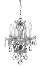 Crystorama 5534-CH-CL-MWP - Crystorama Traditional Crystal 4 Light Chrome Mini Chandelier