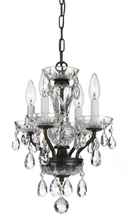 Crystorama 5534-EB-CL-I - Crystorama Traditional Italian Crystal 4 Light Bronze Mini Chandelier