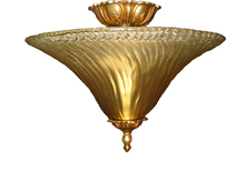 Crystorama 5673X-OB - Crystorama 2 Light Gold Leaf Ceiling Mount