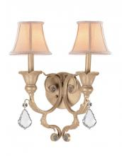 Crystorama 6602-CM-CL-MWP - Crystorama 2 Light Optical Crystal Champagne Sconce