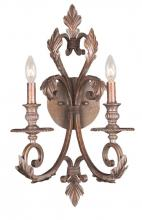 Crystorama 6912-FB - Royal 2 Light Florentine Bronze Sconce