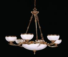 Crystorama 885-OB - Crystorama 9 Light Olde Brass Chandelier