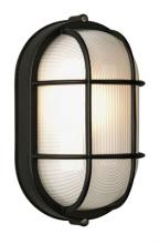 Forecast F9079519NV - One Light Black Etched Glass Marine Light