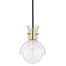 Hudson Valley H111701G-AGB - 1 Light Pendant With Glass