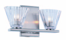 Elegant 1520W12BN - 1520 Oslo Collection Wall Sconce, Vanity D:11.5in H:6in E:4in Lt:2 Burnished Nickel Finish