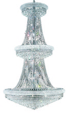 Elegant 1802G42C/RC - 1802 Primo Collection Large Hanging Fixture D42in H72in Lt:38 Chrome Finish (Royal Cut Crystals)