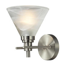 ELK Lighting 11400/1 - Pemberton 1 Light Vanity In Brushed Nickel And M