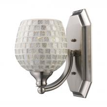 ELK Lighting 570-1N-SLV - Bath And Spa 1 Light Vanity In Satin Nickel And