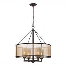 ELK Lighting 57027/4 - Diffusion 4 Light Chandelier In Oil Rubbed Bronz
